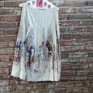 Talbots City Print Skirt Size 6